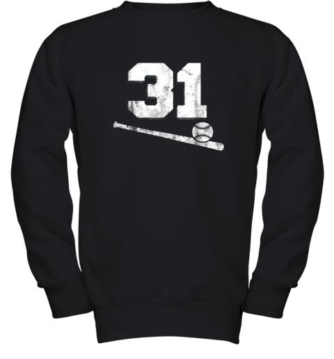 Vintage Baseball Jersey Number 31 Shirt Player Number Youth Sweatshirt