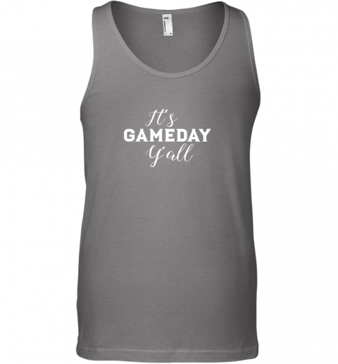 c5ut it39 s game day y39 all football baseball basketball unisex tank 17 front graphite heather