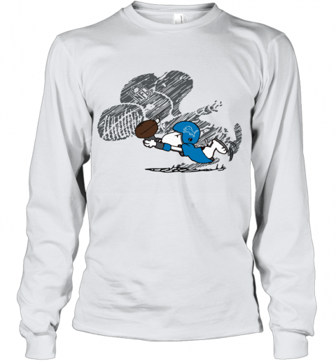 Detroit Lions Snoopy Plays The Football Game Youth Long Sleeve