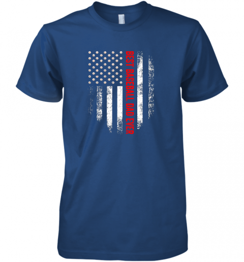 d4b4 vintage usa best baseball dad ever american flag daddy gift premium guys tee 5 front royal