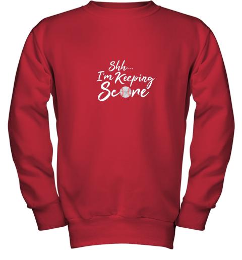 tt8o scorekeeper baseball team scorebook keeper youth sweatshirt 47 front red