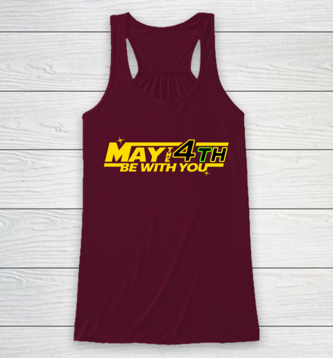 Star Wars Shirt MAY THE 4TH BE WITH YOU Funny Geek Nerd Racerback Tank 2