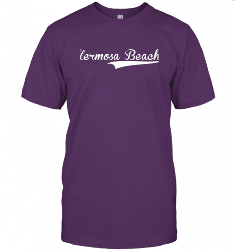 p1qo hermosa beach baseball softball styled jersey t shirt 60 front team purple