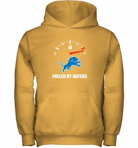 ssdm fueled by haters maximum fuel detroit lions youth hoodie 43 front gold