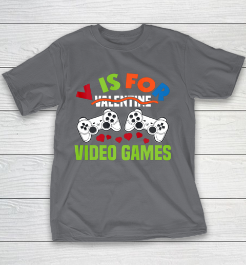 Funny Video Games Lover Valentine Day Youth T-Shirt 5
