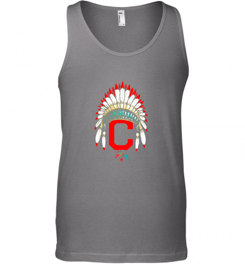 kv7l new cleveland hometown indian tribe vintage for baseball unisex tank 17 front graphite heather