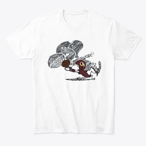 Washington Redskins Snoopy Plays The Football Game T-Shirt
