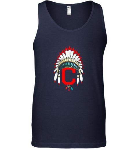 kv7l new cleveland hometown indian tribe vintage for baseball unisex tank 17 front navy