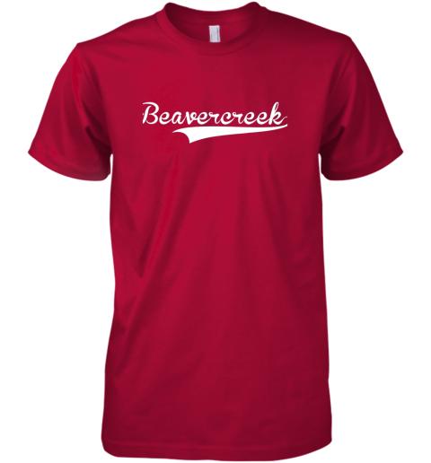 yphv beavercreek baseball styled jersey shirt softball premium guys tee 5 front red