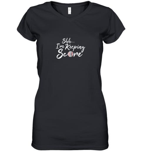 Scorekeeper Gift Funny Baseball Team Score Book Keeper Women's V-Neck T-Shirt