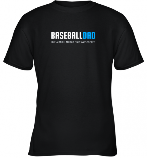 Mens Baseball Dad Shirt, Funny Cute Father's Day Gift Youth T-Shirt