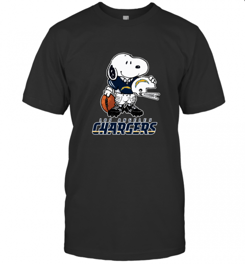 Snoopy A Strong And Proud Los Angeles Chargers NFL T-Shirt