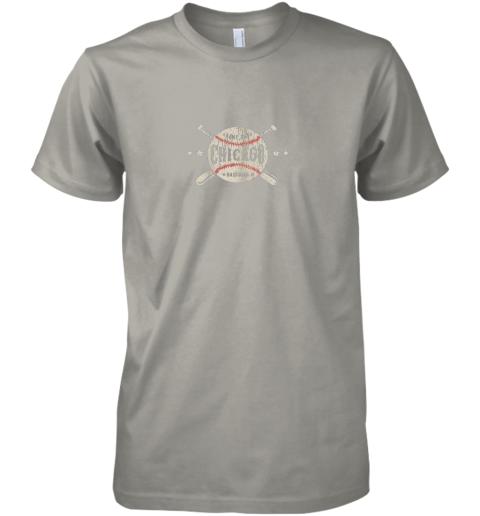 cpst chicago illinois il shirt vintage baseball graphic premium guys tee 5 front light grey