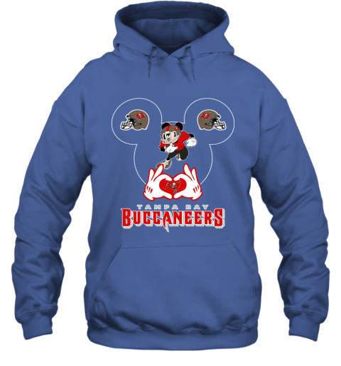 mg4g i love the buccaneers mickey mouse tampa bay buccaneers s hoodie 23 front royal