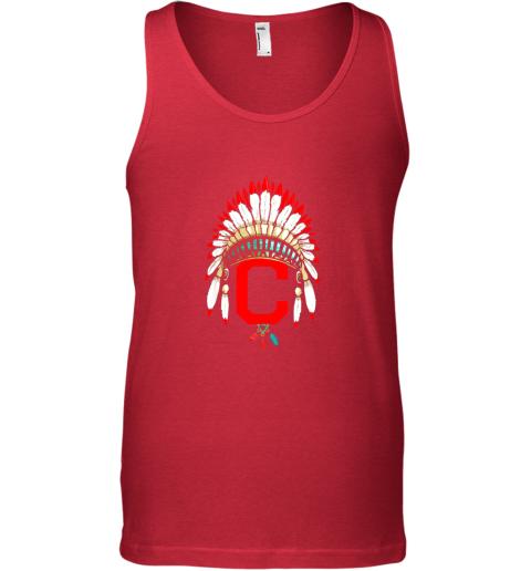 kv7l new cleveland hometown indian tribe vintage for baseball unisex tank 17 front red