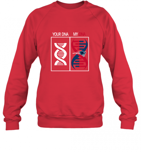 lqxr my dna is the new england patriots football nfl sweatshirt 35 front red