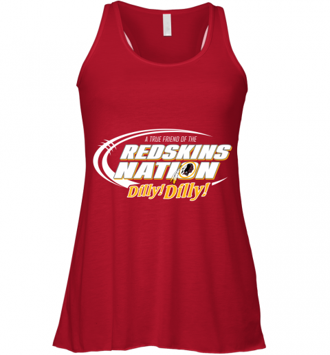 zluw a true friend of the redskins nation flowy tank 32 front red