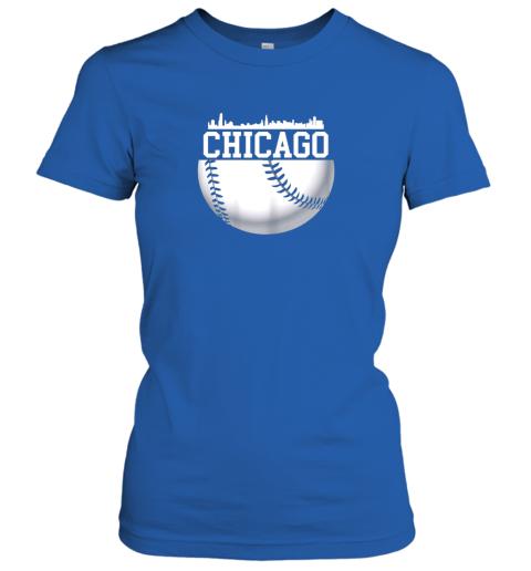 xbxy vintage downtown chicago shirt baseball retro illinois state ladies t shirt 20 front royal