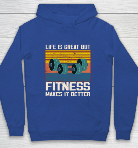 Life is good but Fitness makes it better Youth Hoodie 6