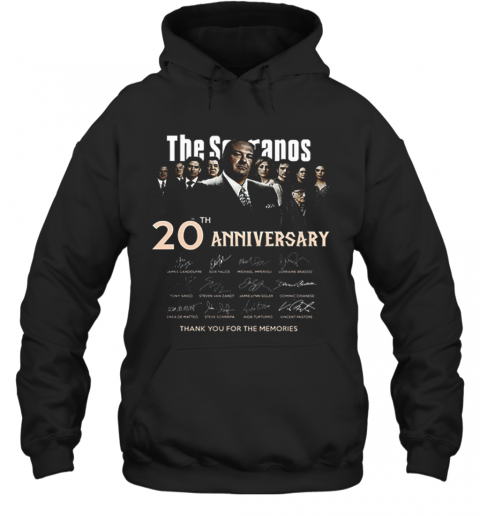 The Sopranos 20Th Anniversary Signed Thank You For The Memories Hoodie