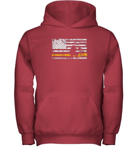 sbqi softball catcher shirts baseball catcher american flag youth hoodie 43 front red