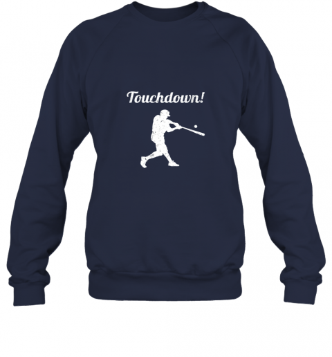 zmw1 touchdown funny baseball sweatshirt 35 front navy