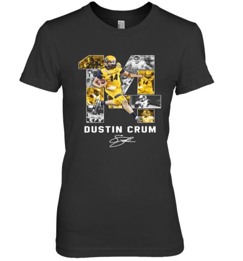 #14 Dustin Crum Kent State Golden Flashes Football Signature Premium Women's T-Shirt