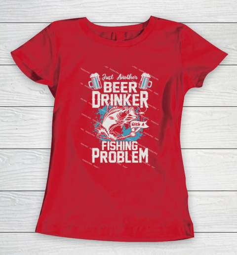 Beer Lover Funny Shirt Fishing ANd Beer Women's T-Shirt 9
