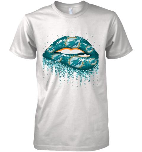 Sexy  Lips Miami Dolphins NFL Premium Men's T-Shirt