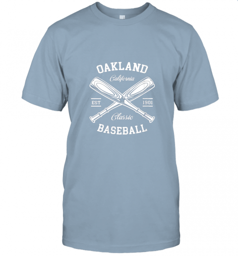 9pqv oakland baseball classic vintage california retro fans gift jersey t shirt 60 front light blue