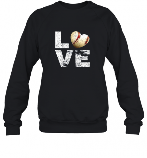 I Love Baseball Funny Gift for Baseball Fans Lovers Sweatshirt