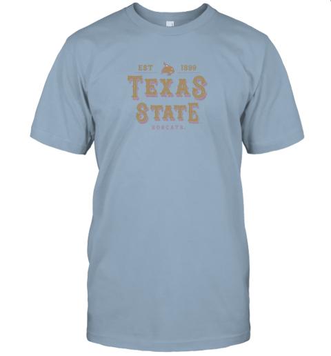 q2u1 texas state bobcats womens college ncaa jersey t shirt 60 front light blue