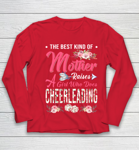 Cheerleading the best mother raises a girl Youth Long Sleeve 8