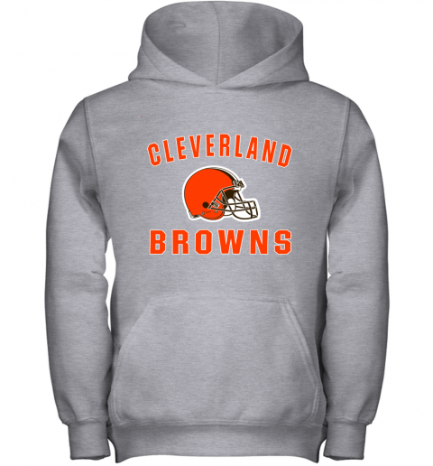 r6zh cleveland browns nfl line by fanatics branded brown victory youth hoodie 43 front sport grey