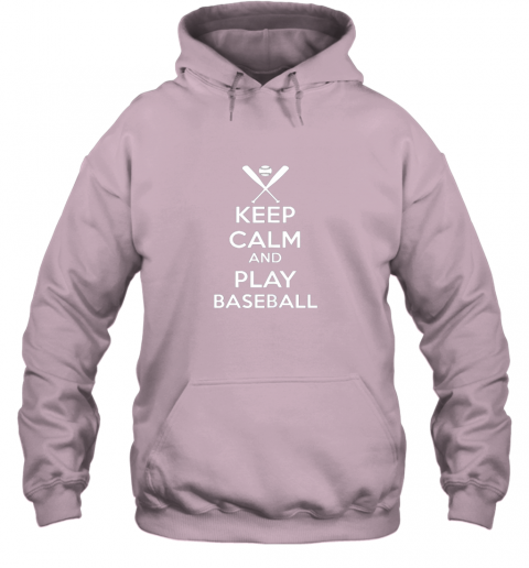 jsta keep calm and play baseball hoodie 23 front light pink