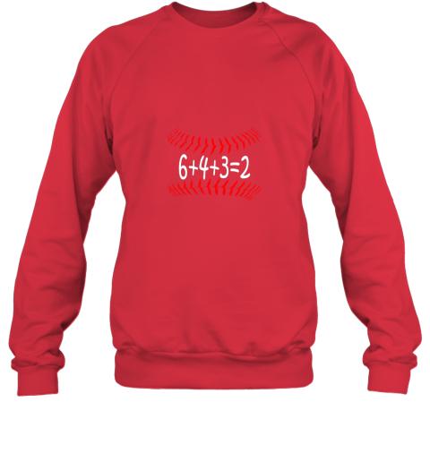 jxkr funny baseball 6432 double play shirt i gift 6 4 32 math sweatshirt 35 front red