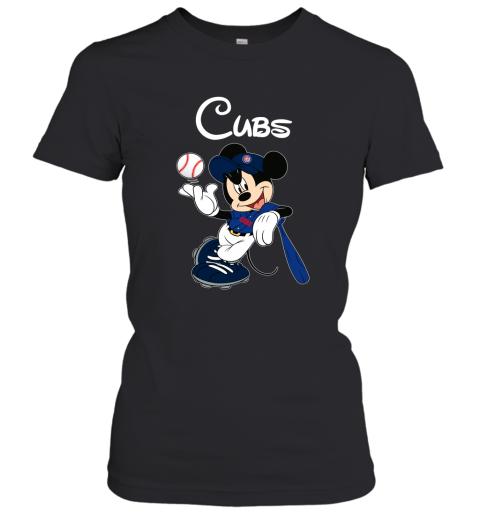 Baseball Mickey Team Chicago Cubs Women's T-Shirt