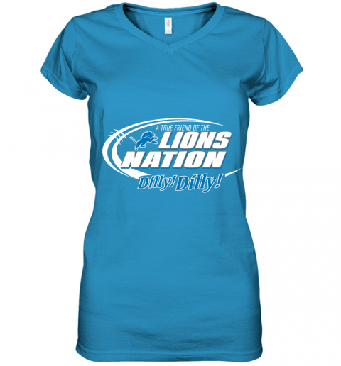 tfvl a true friend of the lions nation women v neck t shirt 39 front sapphire