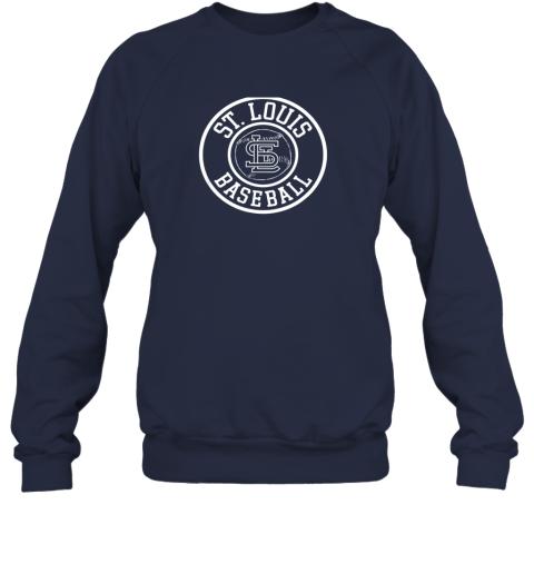 vwqu vintage st louis baseball missouri cardinal badge gift sweatshirt 35 front navy
