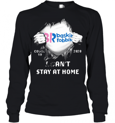 Blood Insides Br Baskin Robbins Covid 19 2020 I Can'T Stay At Home Youth Long Sleeve