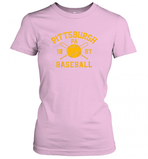 yybn vintage pittsburgh baseball pennsylvania pirate retro gift ladies t shirt 20 front light pink