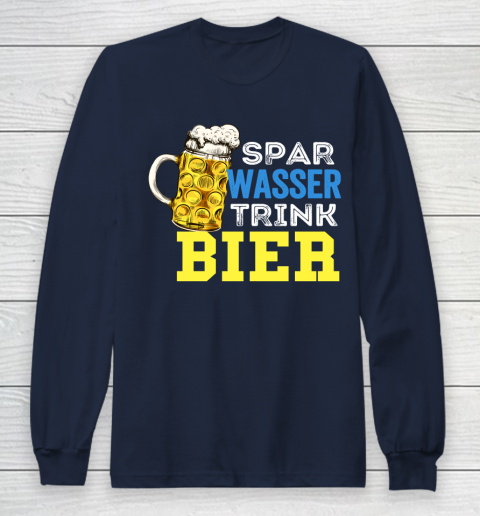 Beer Lover Funny Shirt Save Water Drink Beer Drink Alcohol Drink Party Saying Long Sleeve T-Shirt 2