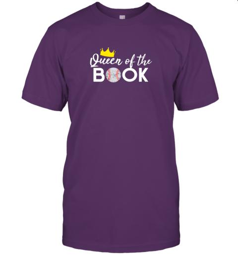 vkfk scorekeeper baseball team scorebook queen jersey t shirt 60 front team purple