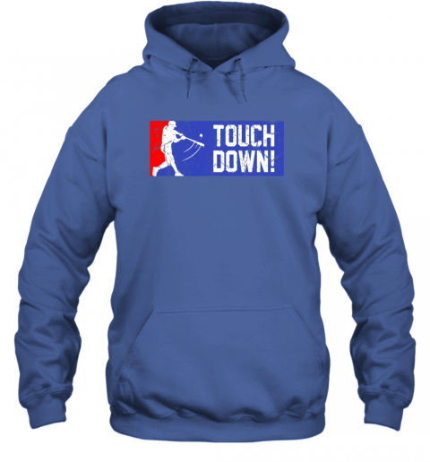 y4dl touchdown baseball funny family gift base ball hoodie 23 front royal