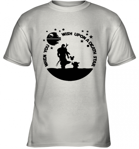 When You Wish Upon A Death Star The Mandalorian Baby Yoda Youth T-Shirt