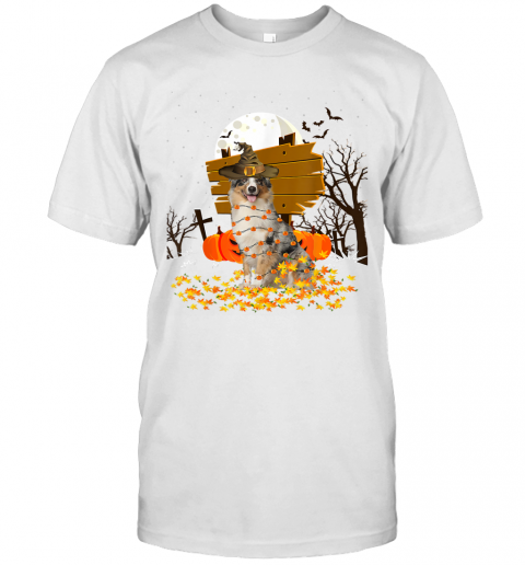My Australian Shepherd Pumpkins Halloween Dog Gift T-Shirt