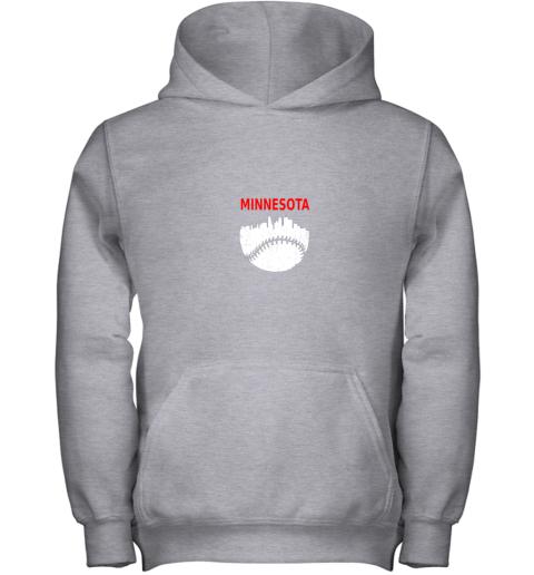 2rn7 retro minnesota baseball minneapolis cityscape vintage shirt youth hoodie 43 front sport grey