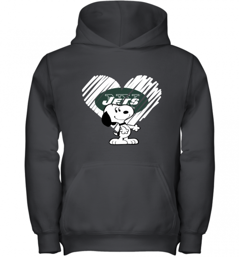 I Love New York Jets Snoopy In My Heart NFL Youth Hoodie