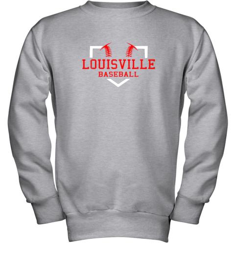 lxwm vintage louisville baseball kentucky gift youth sweatshirt 47 front sport grey