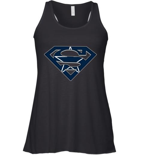We Are Undefeatable The Dallas Cowboys x Superman NFL Racerback Tank
